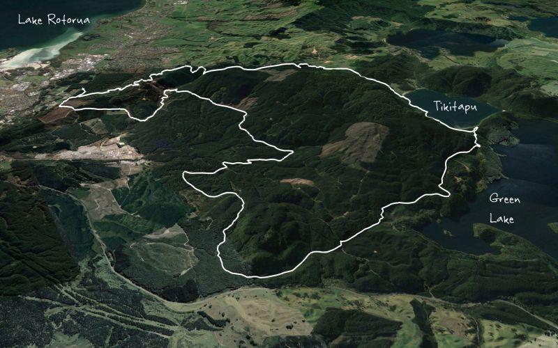 Whakarewarea Circuit - the Black Track